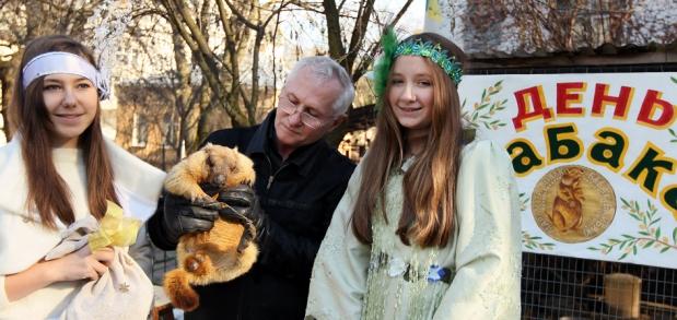 Львівський бабак Мишко навіщував пізню весну