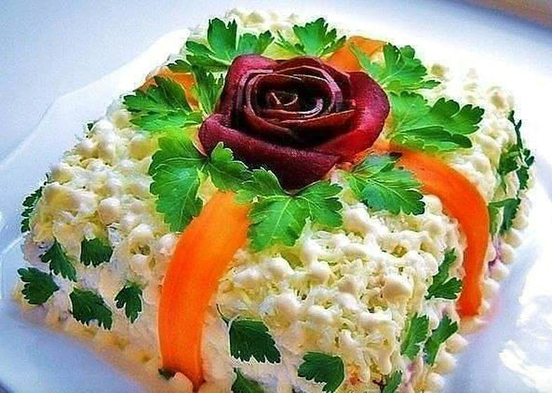 Красивые вкусные салаты на стол с